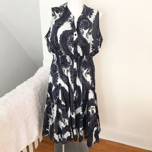 Chelsea & Theodore Paisley Button Down Dress NWT ✨